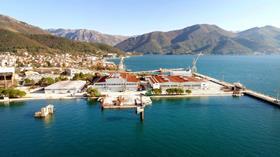 The Bijela shipyard in Boka Bay, Montenegro
