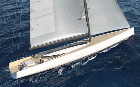 SY200 under sail aft