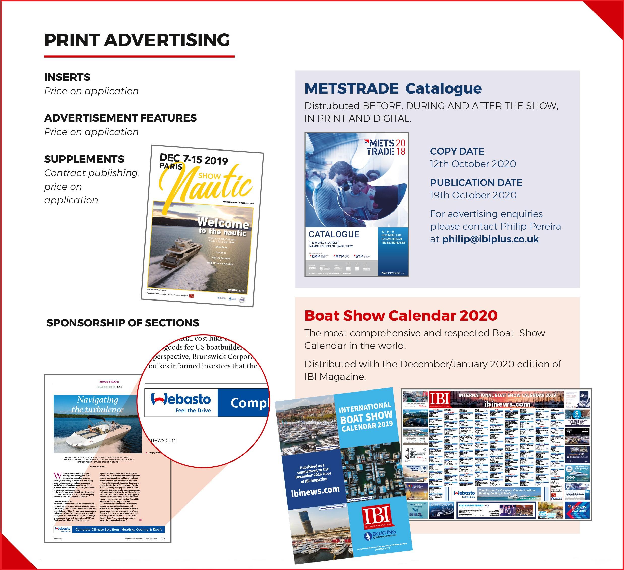 Print advertising opportunities